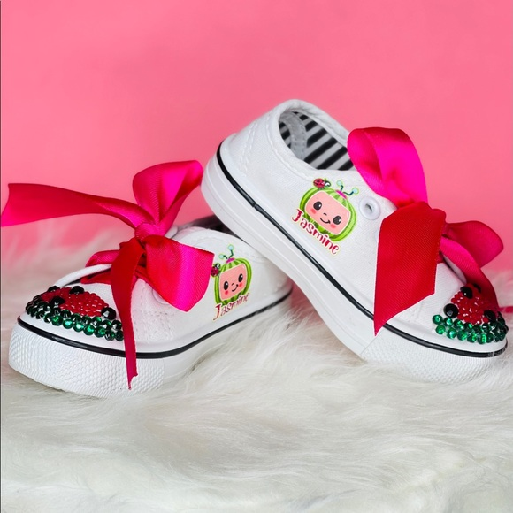 cutest birthday shoes. cocomelon sneakers Cocomelon shoes Cocomelon birthday shoes birthday shoes